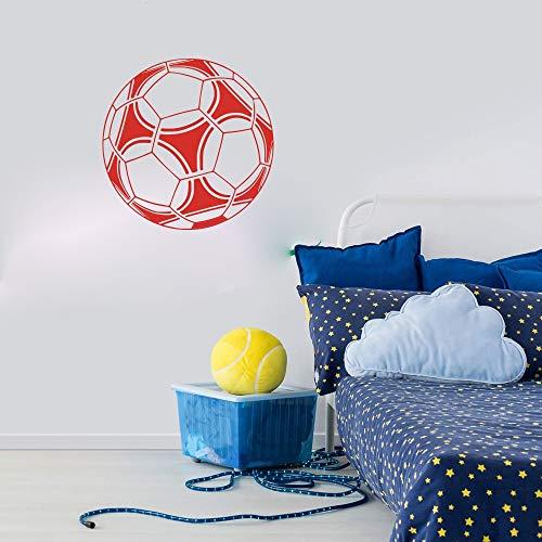 Pegatinas de pared, fútbol, balón de fútbol, calcomanía de pared, habitación de niño, habitación deportiva, pegatina de pared, dormitorio, sala de juegos, vinilo, decoración del hogar, 56x56cm