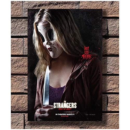ZQXXX The Strangers Prey at Night Movie Johannes Roberts Póster artístico e impresiones Pintura en lienzo Decoración para sala de estar Regalo -50x70cm Sin marco