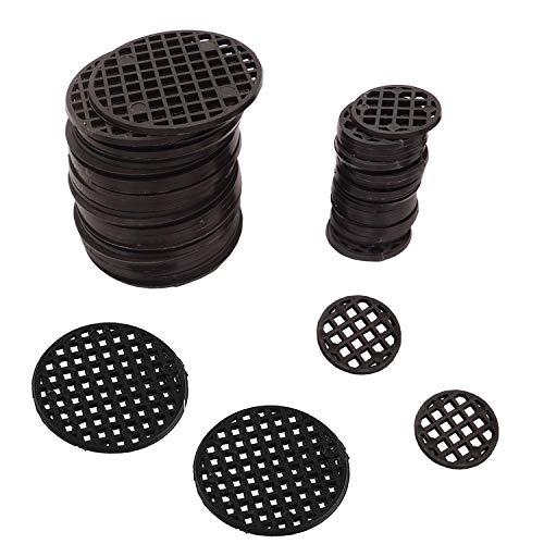 100 Pcs Plastic Flower Pot Hole Mesh Pad for Bonsai Pot Mesh Drainage Screens Prevent Soil Loss Breathable Gasket 4.5cm 2.5cm Diameter