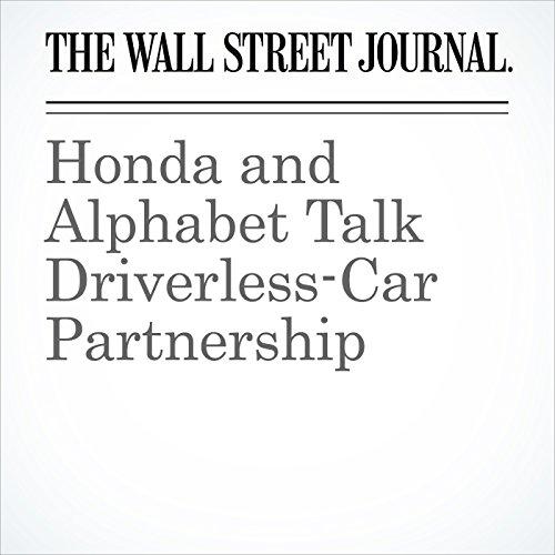 Honda and Alphabet Talk Driverless-Car Partnership cover art