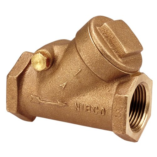 NIBCO T-413-Y-LF Silicon Bronze Lead-Free Check Valve, Horizontal Swing, Class 125, PTFE Seat, 3/4