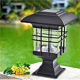 Jardín Luces de Paisaje, Lámparas de Pilares Solares Luz de Trayectoria de LED Luz de Iluminación con Batería Solar para Muros Exteriores, Jardines, Patios y Terrazas