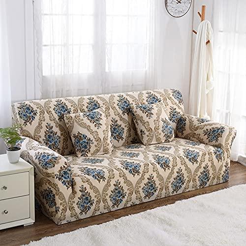 PPOS Fundas de sofá elásticas Jacquard de Estilo Europeo de Lujo Fundas para sillón Sofá seccional de Esquina Sofá A4 1 Asiento 90-140cm-1pc