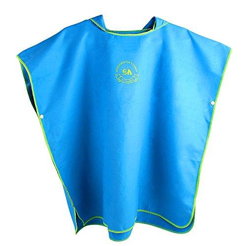 Jian Ya Na Poncho de baño unisex con capucha para niños, impermeable, secado rápido, para playa, natación, color azul