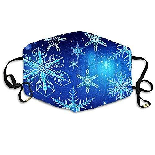 N / A Gesichtsmaske mit Buntem Mustermuster, Staub und nebelsichere Außenmaske, Weihnachtsmaske kann wiederholt verwendet Werden