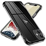 ONES 半透明 iPhone 11 ケース 耐衝撃 超軍用規格 『エアバッグ、半密閉音室、Qi充電』〔滑り……