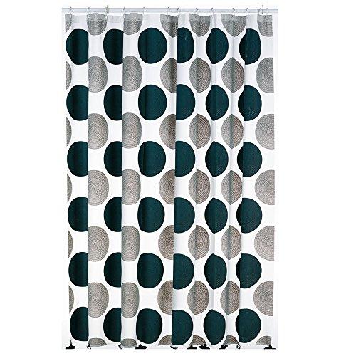 kela Duschvorhang Lamara 180x200cm aus PEVA in grau, 200 x 180 x 0.8 cm