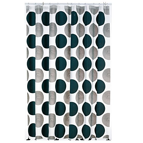 kela Duschvorhang Lamara 180x200cm aus PEVA in grau, Vinyl, 200 x 180 x 0.8 cm