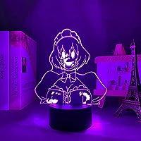 Led Illusion Lamp Anime High Rise Invasion The Maid Mask for Bedroom Decoration Led Night Light Birthday Gift Room Decor Manga 3d Table Light-リモコン