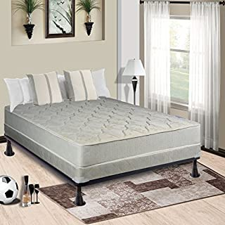 Continental Sleep 9 Gentle Firm Innerspring Tight Top Doublesided Mattress and 4-inch Box Spring