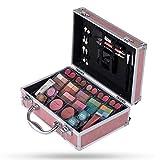 Hot Sugar Makeup Kit for Women-Full Starter Cosmetics Set with Eye Shadow Lip Balm Blush Lip Gloss Brush Lip Pencil Eye Pencil and Mirror