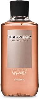 Bath & Body Works Teakwood Men's 2-IN-1 Hair & Body Wash 10 Oz.