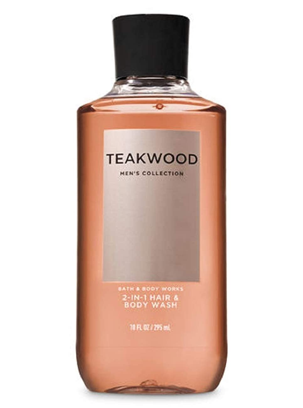 お尻ねじれ日【並行輸入品】Bath & Body Works TEAKWOOD 2-in-1 Hair + Body Wash