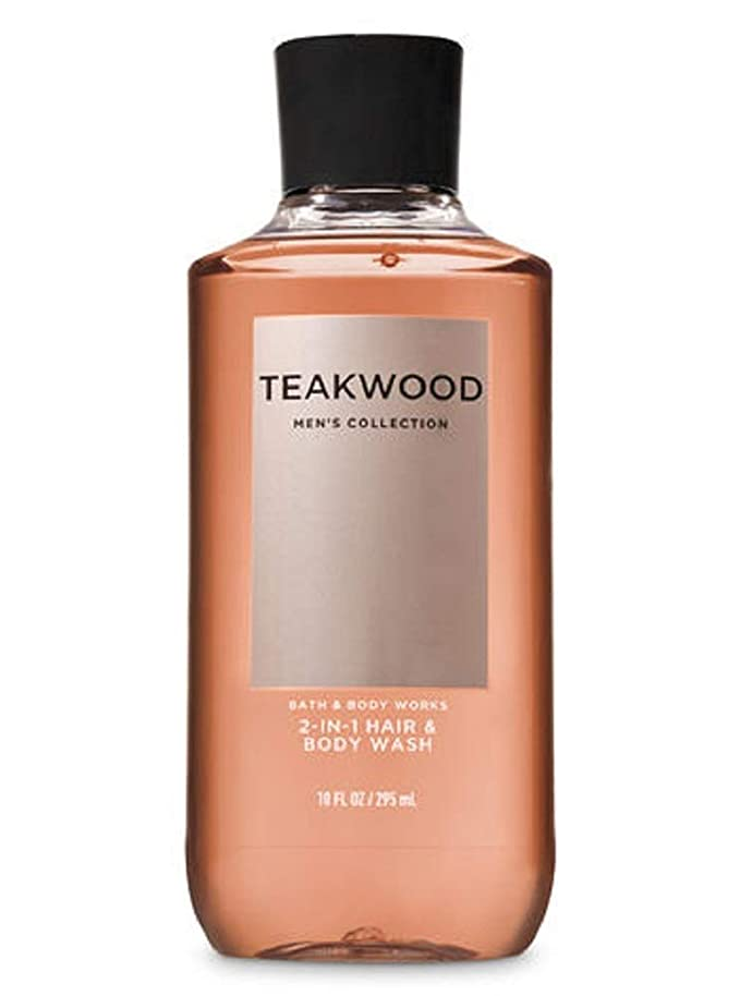 宝石グローブ郵便【並行輸入品】Bath & Body Works TEAKWOOD 2-in-1 Hair + Body Wash