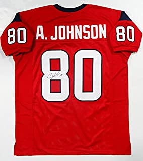 Andre Johnson Autographed Red Pro Style Jersey- JSA Witness Auth 8