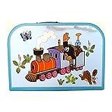 Kinderkoffer 16298 'Maulfwurf mit der Eisenbahn' blau gross 30 cm