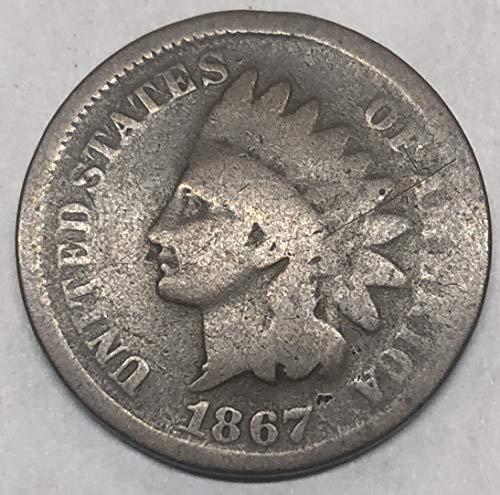 1867 P Indian Head Wild West Era Penny Cent Good