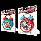 Kids Licensing - WD16289 - Réveil à Cloche en Métal Cars - Grand Modèle