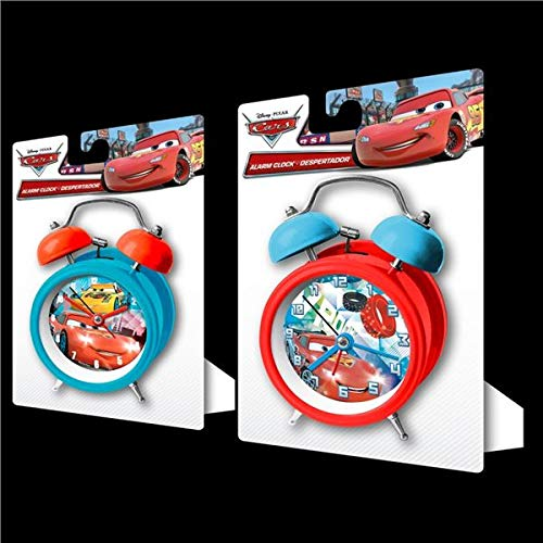Kids Licensing Wd16289 Wekker met bel van metaal Cars, groot