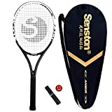 Senston Tennis Racket 27 '' Professional Full Carbon Adult Tennis Racket Including Tennis Bag and Overgrip and Vibration Damper