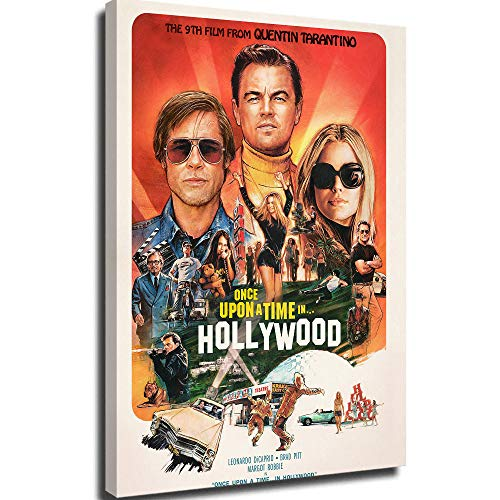 Poster Wall Decor Canvas Print Wall Decor Bedroom for boy Poster Once Upon a Time in Hollywood Canvas Movie Posters 18x24inch