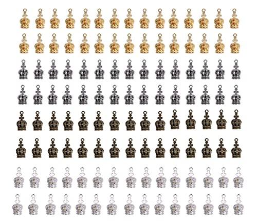 チャームパーツ 王冠 クラウン 4色 約120個入り ハンドメイド ジュエリー 手作り アクセサリー ピアス ネックレス DIY 材料