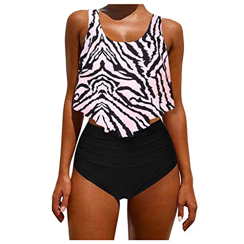 Fenverk Bikini Damen Push Up Frauen Sommer Strand BH Set Mesh Badeanzug Teen MäDchen Badebekleidungs Neckholder Mode Design(Weiß,M)