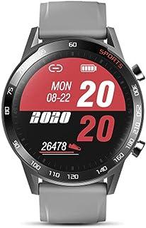 SAHWIN® Pulsera Fitness, Reloj Inteligente Impermeable IP67 con Monitor De Sueño Pulsómetro Podómetro, Caloría GPS para Deporte, Reloj Inteligente Mujer Niños,Gris