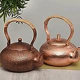 Jarras de té Calentador de cerámica eléctrica de té de cobre puro hecho a mano tradicional Hervido de cerámica eléctrica Hervir el tetal de té de hervir el tetal de la manija de la manija del tetal Te