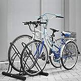 Femor Aparca Bicicleta Soporte para Bicicleta Aparcamiento para 2 bicicletas, Aparcamiento de Bicicletas Parking de 2 Bici Color Negro