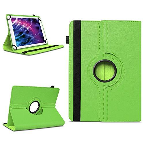 Tablet Schutzhülle für Medion Lifetab P10606 P10602 X10605 X10607 X10311 P9702 X10302 P10400 P10506 P10505 aus Kunstleder Hülle Tasche Standfunktion 360° Drehbar Cover Case Universal , Farben:Grün