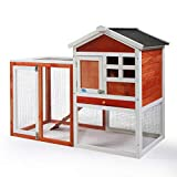 COZIWOW 47'×21'×37' Indoor Outdoor Wooden Large Small Animal Hutch,Pets Crate House for Rabbit Bunny Cage Dog Cat Squirrel Hamster Hedgehog Guinea Pig Habitat Chicken Coop