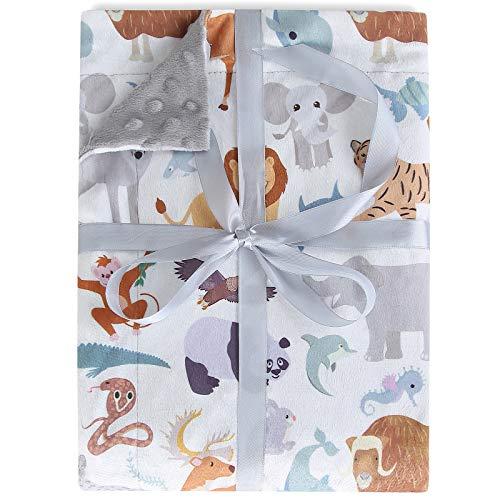 LMLALML Babydecke Superweich mit doppelter Schicht gepunkteter Rückseite, Babydecke Mädchen, Babydecken für Jungen Reisedecke erhalten