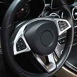 AUTO Pro para Mercedes Benz Clase A Clase C W205 Coupe B W246 E W213 GLE GLS CLA GLC 304 Acero Inoxidable Tubo Cola Garganta Escape Negro Salidas Cola Marco Trim Cover