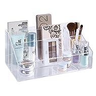 STORi Premium Quality Clear Plastic Makeup Palette and Brush Holder