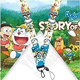 Lanyard Doraemon cordón para el cuello tarjeta identificativa, para llaves, para móvil, para mascarilla, para teléfono.…