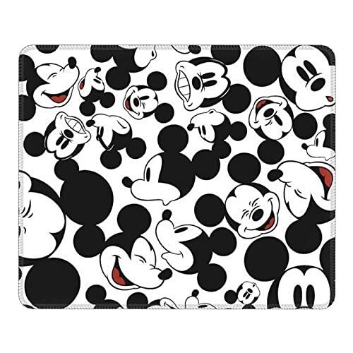 Mickey Mouse Face Gaming Mouse Pad Square Anti-Slip Rubber Mousepad with Stitched Edges for Office Laptop Computer PC Wireless Mice 10 x 12 inches