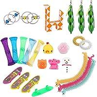 おもちゃ 24/50pcs感覚フィジットのおもちゃセットストレスリリーフの手のおもちゃ大人の子供Adhd不安自閉症束感覚玩具誕生日プレゼント (Color : 25pcs style 1)