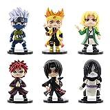 Qwead 6 Unids / Set Figura De Anime Gaara Uchiha Sasuke Itachi Hatake Kakashi Uzumaki Figuras De Acc...