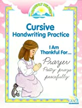 I Am Thankful For...: Cursive Handwriting Practice