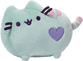 GUND Pusheen Heart Pastel Cat Plush Stuffed Animal, Green, 6