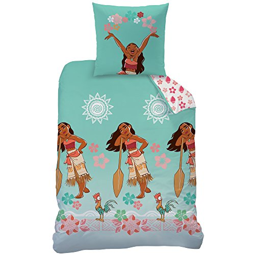 Bett- und Kissenbezug, Motiv: Vaiana Dreams, 140 x 200 cm, 100 % Baumwolle