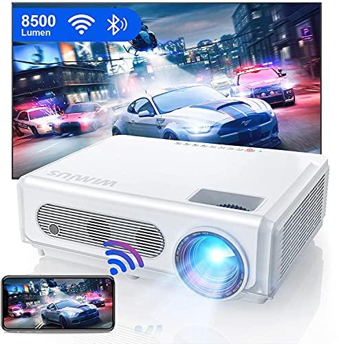 Proiettore WiFi Bluetooth 1080P, Proiettore WiMiUS 8500 Full HD Nativo 1920 × 1080P