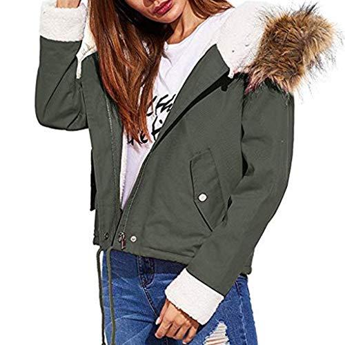 MINIKIMI winterjas met bontkraag dames goedkoop donzen winter korte jas parka mantel wintermantel met capuchon warm rits gewatteerde jas dikke gewatteerde jas met capuchon met zakken