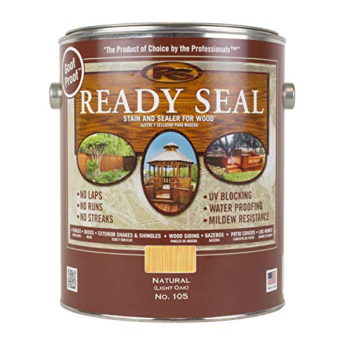 Ready Seal 105 Exterior Stain and Sealer for Wood, 1-Gallon, Light Oak