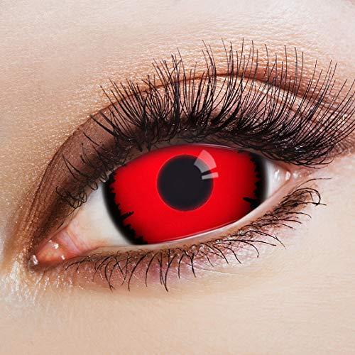 ARICONA Kontaktlinsen: Rote Sclera Kontaktlinsen Jahreslinsen mit 17mm - 2er Set