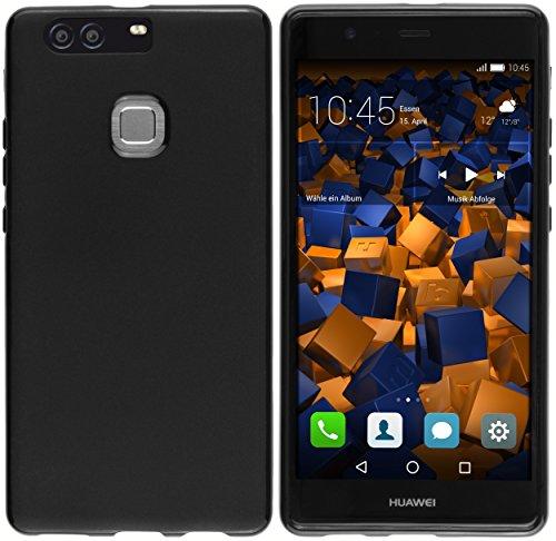 mumbi Hülle kompatibel mit Huawei P9 Plus Handy Hülle Handyhülle, schwarz