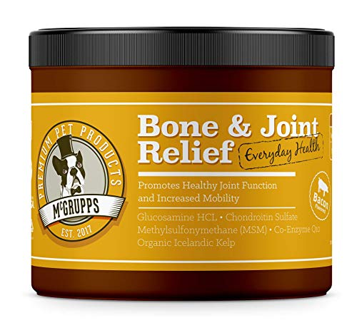 Mcgrupps Daily Bone & Joint Chews for Dogs | Glucosamine Supplement with Chondroitin, MSM, and CoQ10 | Made in The USA | 130 Count