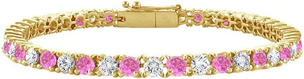 Pink Sapphire and Diamond Tennis Bracelet 2.00 Wholesale with on 14 TGW CT Attention brand