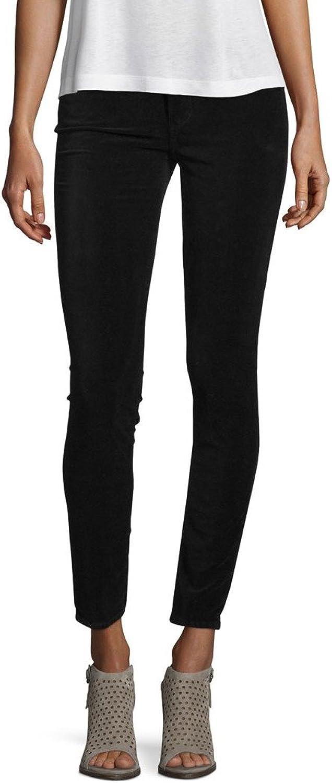 Paige Denim Womens Verdugo Ankle Skinny Pants Black Overdye Velvet 24, 25, 27, 28